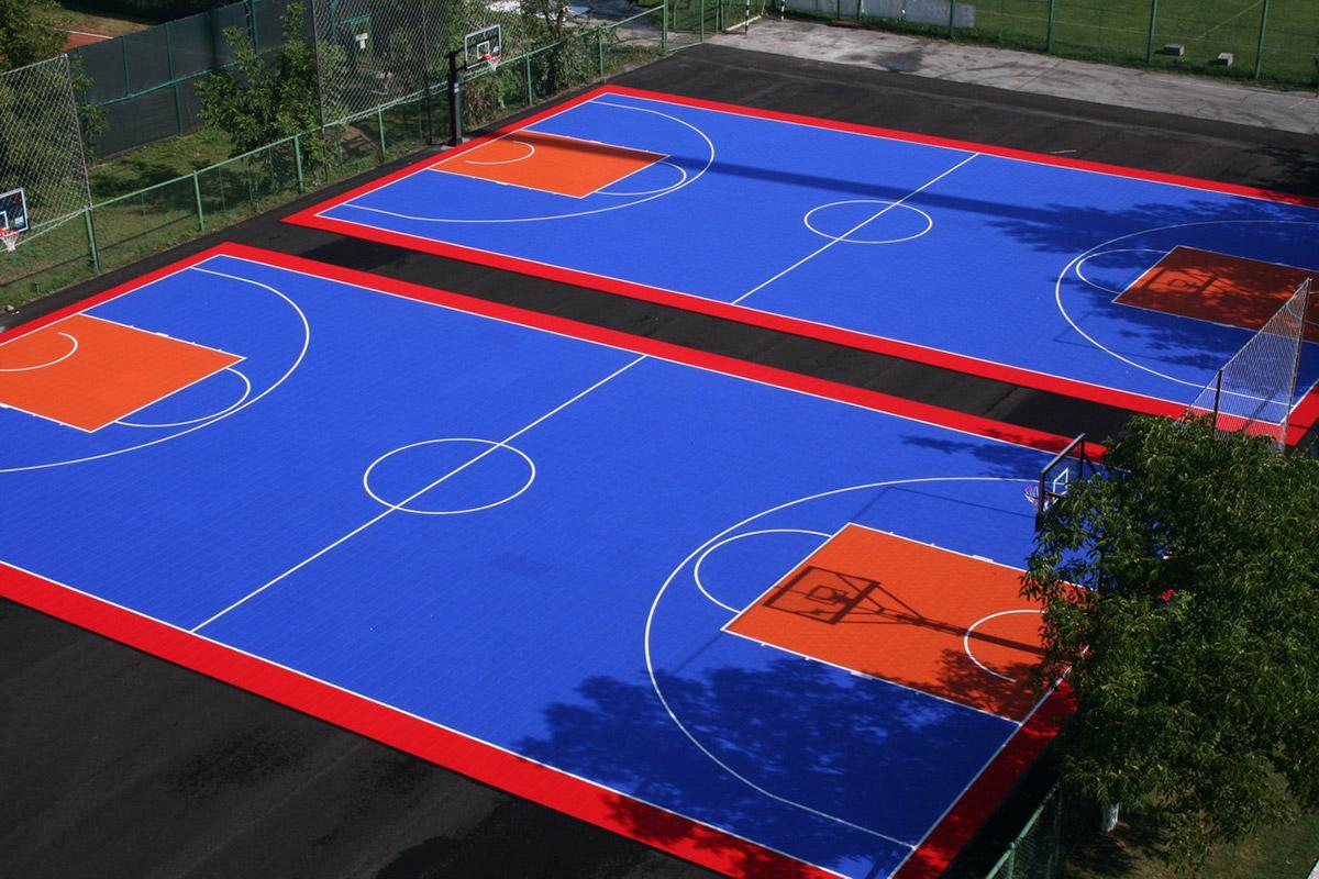Баскетболно игрище  от полипропиленови плочи